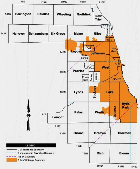 cook county township map jpg