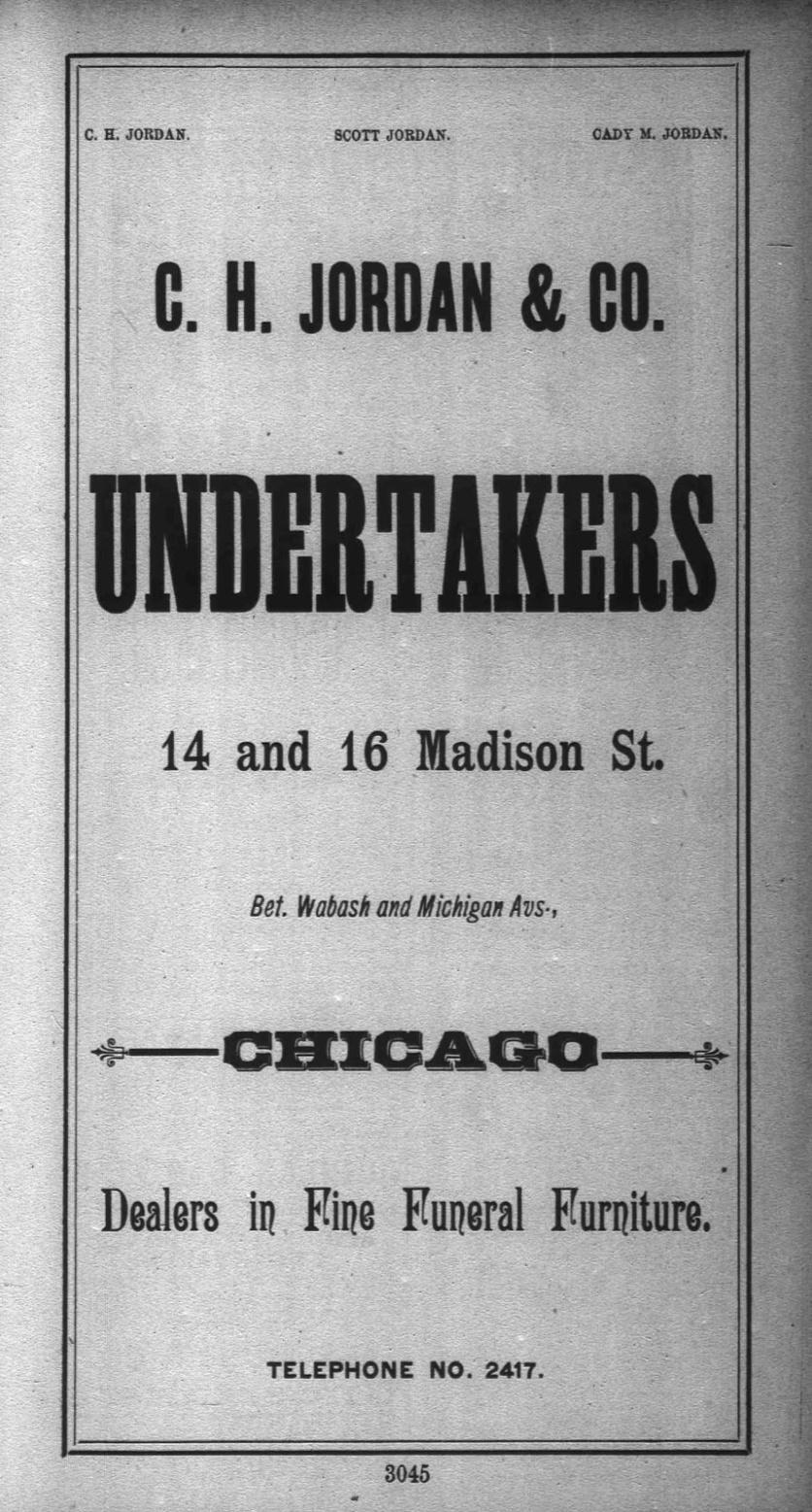 Jordan Undertaker 1891 p 3045