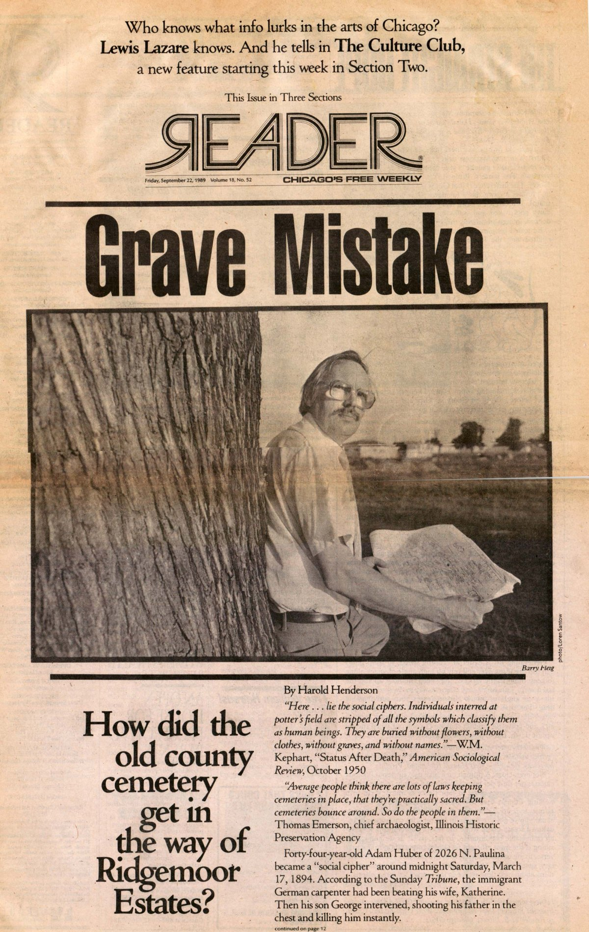 Grave Mistake-the Story of Cook County Cemetery at Dunning