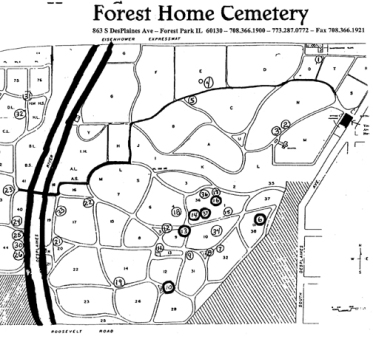 forest home cemetery forest park, il