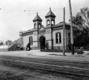German waldheim gate circa 1900