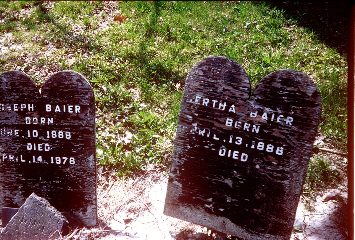 THE BAIERS – BURIED UNDER A WOOD GRAVE MARKER