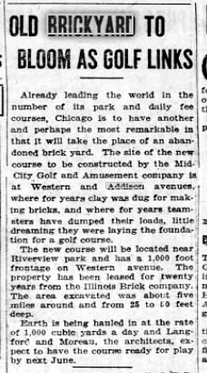 brickyard to be golf july 1923