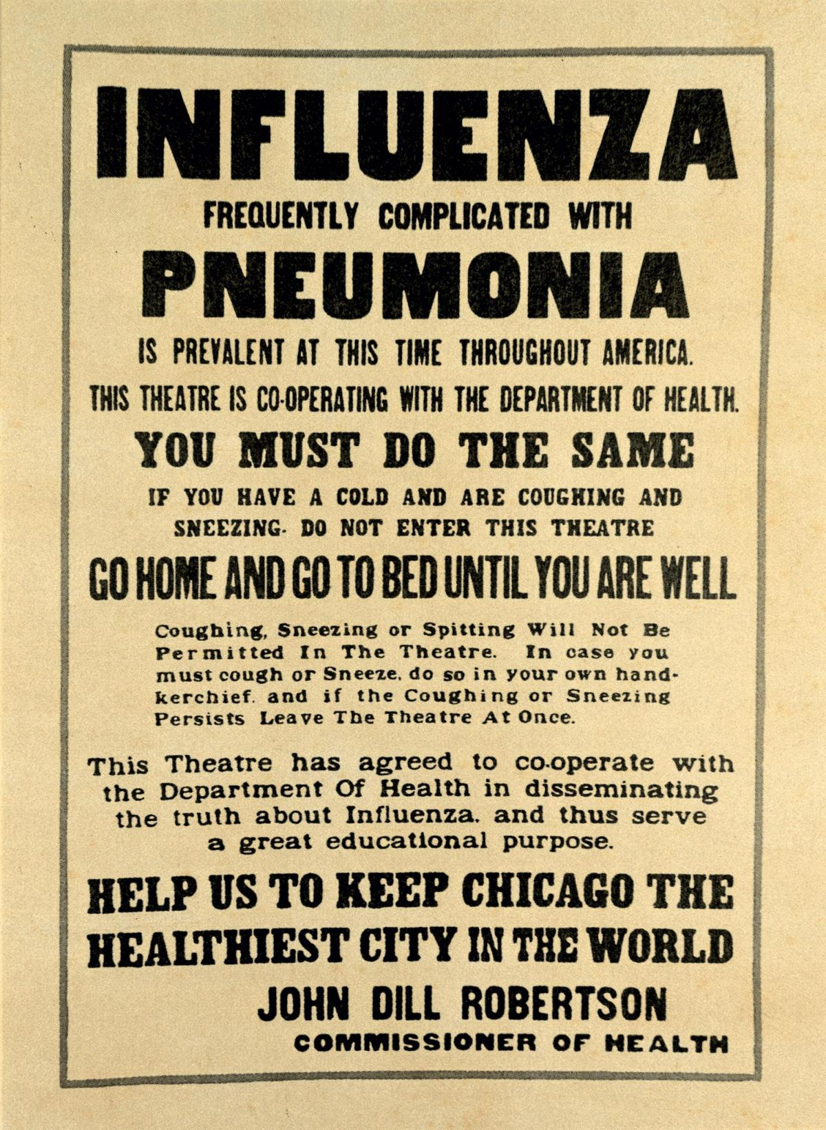 Bring out your dead!  –   Chicago's 1918 flu epidemic